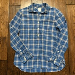 J.Crew Boy Fit Popover Shirt Small